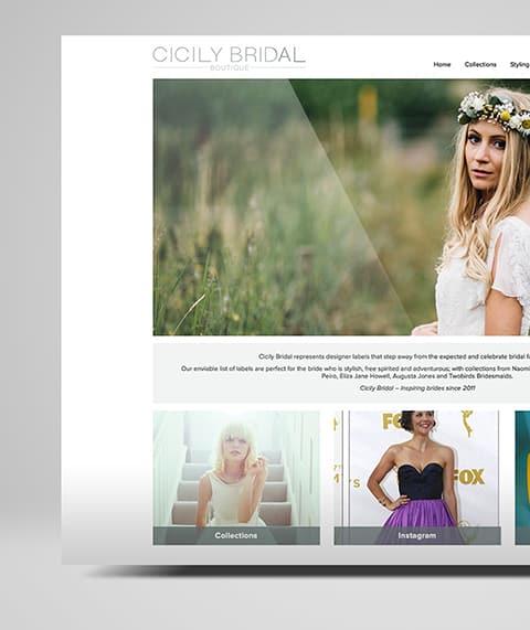 Cicily Bridal Web Design